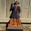 Carved Painted Folk Art Colonial Man Sign
