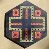 Double Sided Painted Folk Art Game Board