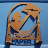 Painted Metal Art Deco Silhouette PAPER Holder