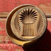 Carved Sheaf of Wheat Folk Art Butter Mold