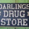 19C Folk Art Painted Wood DRUG STORE Sign