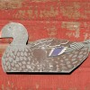 Folding Painted Metal Duck Decoy