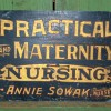 Folk Art Painted MATERNITY and NURSING Sign