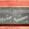 Painted Music Studio Sign