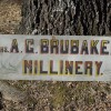 Folk Art MILLINERY Sign