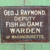 Mass. Deputy Fish & Game Warden Sign