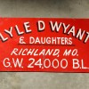 Unusual Wyant & DAUGHTERS Sign