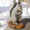 Folk Art Carved Squirrel
