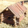Folk Art Toy Log Cabin Dated 1915.