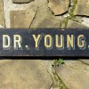 DR. YOUNG Double-Sided Folk Art Sign