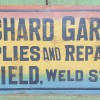 Coming soon…1910-20 Painted Metal Garage Sign