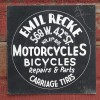 Hand Painted 1920′s NYC Motorcycle Sign