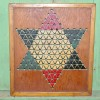 Folk Art Chinese Checkers Game Board