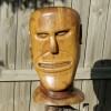 Huge Carved Folk Art Head