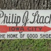 1900-20 Painted Tin Iowa Shoe Sign
