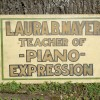 Teach of Piano Expression Painted Sign
