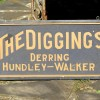 Double Sided Late 19th Century THE DIGGING'S Sign