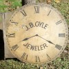 Double Sided Figural Clock Jeweler Sign