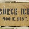 1930′s BURGE ICE Sign from Kansas City, MO.