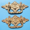 Pair of Victorian Cast Iron Casket Handles
