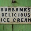 Double Sided Folk Art Ice Cream Sign