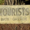 Large 1920′s Double Sided TOURISTS Sign