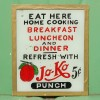 1920-30′s Reverse Painted Glass Diner Sign