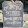19th Century Christian Science Reading Room Sign