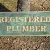 Folk Art Plumber Sign