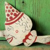 Folk Art Clown Toy