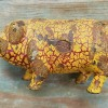 Wild Looking Cast Iron Pig Bank