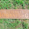 1920-30s Carved NYC Hobby Shop Sign