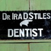 Large Reverse Painted Glass DENTIST Sign