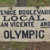 1930′s Venice, Cal. Double Sided Trolley Sign