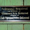 1920 Reverse Glass Optician Sign