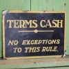 Terms Cash Sign