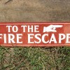 Metal Fire Escape Sign