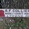 Late 19C Painted Marble & Granite Works Sign