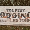 1910-20's TOURIST LODGING Roadsign Sign