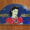 1940's Glass MYSTIC MUSIC Jukebox Sign