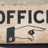 Double Sided and Flanged OFFICE Sign