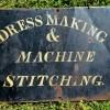 1850-70 Tin Dress Maker's Sign