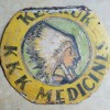Folk Art Keokuk KKK Medicines Sign with Indian