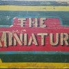"""Painted Wagon Board Sign """"THE MINIATURE"""""""