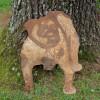 Early Folk Art Roadside Bulldog Sign