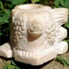 Folk Art Carved Stone Match Holder