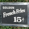 1950's FRENCH FRIES Diner Sign