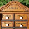 Folk Art Spice Cabinet