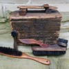 Folk Art Shoe Shine Box