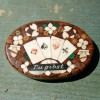 19C Inlaid Stone Poker Chip